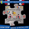 Medalha Shaped Jigsaw de Costom do estilo da forma