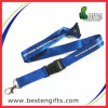Polyester Blue Nylon Lanyard avec Safety Hook (B00029)