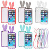 iPhone를 위한 귀여운 Rabbit Bunny Crystal Soft TPU Bumper Case 6 4.7