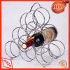 Cremalheira do vinho do metal do carrinho de indicador do vinho