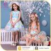 Летом цвета 2 голубым/померанцовым Ruffled платье партии повелительниц одежды способа