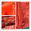 Double bâche de protection orange Sheet/PE Tarps/poly Tarps de PE de la Chine