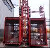 Alzamiento de la construcción Sc100 para el alzamiento del material de construcción con la jaula simple o doble