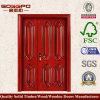 ヨーロッパの等しくない二重前部外部木製のドア(XS1-011)