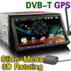 7 acoustique de voiture d'écran tactile de pouce 2 DIN HD avec l'iPod, DVB-T, GPS (ES808D)