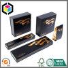 Caixa de empacotamento do presente luxuoso do papel do cartão da extensão do cabelo do ouro