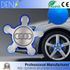 위로 뜨 회전시키는 Audi 바퀴 변죽 센터 허브 모자가 LED에 의하여 점화한다