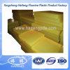 75-95 orilla una hoja del poliuretano hecha con el material transparente amarillo 100% de la Virgen