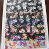 кожа PVC 0.8mm напечатанная цветком для сумок (715)