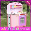 Cozinha de madeira por atacado para meninas, cozinha de madeira para meninas, cozinha de madeira do jogo 2017 do jogo do projeto novo do jogo para as meninas W10c231