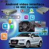 con el sistema de interfaz video de los multimedia androides de WiFi/Bt/TV/DVD/Mirrorlink para Audi