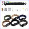 7 braccialetto del cavo di sopravvivenza di Paracord di memoria 550