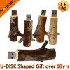 Movimentação de madeira do flash do USB da forma muito quente das raizes da árvore do USB