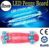 Penny d'éclairage LED et planche à roulettes en plastique de panneau de nickel
