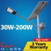 Luz de calle solar duradera de la viruta LED de Epistar Bridgelux del palmo