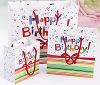 El estilo fresco crea la bolsa de papel para requisitos particulares de empaquetado del regalo de cumpleaños