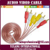 Audio RCA Cable di Grade Yl Longfull Pure Copper con il RCA di Gold Plated