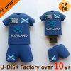 Flash blu del USB della maglietta di gioco del calcio del PVC Jersey (YT-JB)