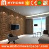 PVC Textured de madeira impermeável exterior do painel de parede 3D para a revenda