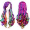 중국 도매 고품질 다색 방열 긴 작풍 합성 머리 가발