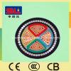 XLPE aisló el cable de transmisión acorazado de cobre forrado PVC del alambre de acero del conductor Yjv32