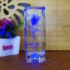 Laser Crystal Rosa Flower Cube di Birthday Gifts Rotate 3D della novità