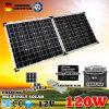 120W 12 v складывая Mono панель солнечных батарей для располагаться лагерем