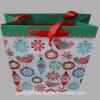 Bolsos impresos calidad del embalaje del regalo del papel de la Navidad