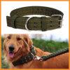 Collar grande Double-Breasted de nylon verde del animal doméstico del perro del ejército
