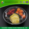 De zwarte Ronde container van het Voedsel van 3 Compartiment
