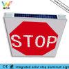 Signe solaire d'arrêt de circulation de panneau en aluminium Integrated