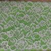 Custonized Wholesale reine weiße Allover Blumen-Entwurfs-Spitze mit wellenförmigen Rändern