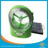 Lâmpada solar barata e ventilador solar com porta FM e USB