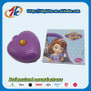 Casella a forma di di giocattolo della cancelleria del cuore di plastica stabilito del contenitore con il taccuino