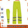 Alti pantaloni 100% del lavoro di visibilità del cotone di colore giallo