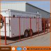 El panel temporal revestido anaranjado de la cerca del PVC en Canadá