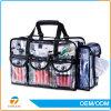 多数は熱い販売のゆとりPVC構成の透過装飾的な袋、ジッパーが付いている透過PVC装飾的な袋を大きさで分類する