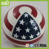 Brinquedo do animal de estimação da esfera da bandeira americana do cão