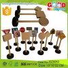 15 partes por o brinquedo de madeira dos sinais de tráfego do jogo caçoam o brinquedo de aprendizagem educacional para a promoção