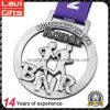 Medaglia d'argento antica promozionale del metallo della stazione di finitura di maratona del ricordo