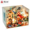 2017 Nieuwe Aankomst met Licht en het MiniatuurPoppenhuis van het Meubilair DIY