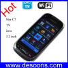 WiFi TVの携帯電話3.2インチのタッチ画面のポーランド人のスロバキアのヘブライ(C7)