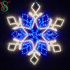 Lámpara del copo de nieve de la estrella de la luz del copo de nieve del marco LED del hierro de la fabricación de China para la decoración de la Navidad