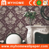 Pure décoratif Paper Foaming Wallpaper avec White Floral