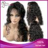 Peruca cheia superior de seda ondulada do laço do cabelo peruano do Virgin