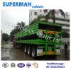 40FT 공용품 세 배 차축 대량 화물 측벽 콘테이너 트럭 세미트레일러