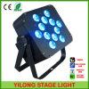 luz con pilas de 12PCS Rgbawuv 15W LED con 6in1 LED