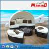 Rattan Round Bed con Canopy in Kd