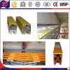 Linha deslizante de alumínio trilho do cobre da segurança do revestimento de PVC de guia