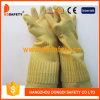 Guanti di funzionamento DHL441 del lattice lungamente del rullo della famiglia senza fodera gialla del polsino